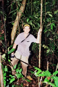 Jason in the dark jungle.